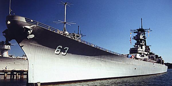 السفينة الحربية Battleship U.S.S. Missouri