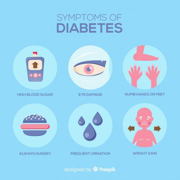الأعراض الشائعة في مرض السكري