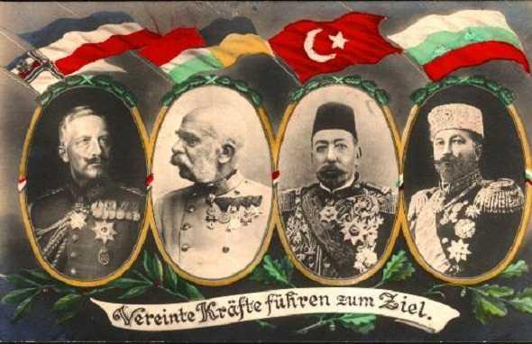 الخلافة العثمانية إلى دول المركز في هذه الحرب