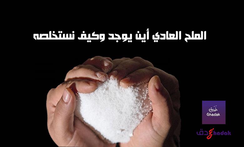 الملح العادي أين يوجد وكيف نستخلصه