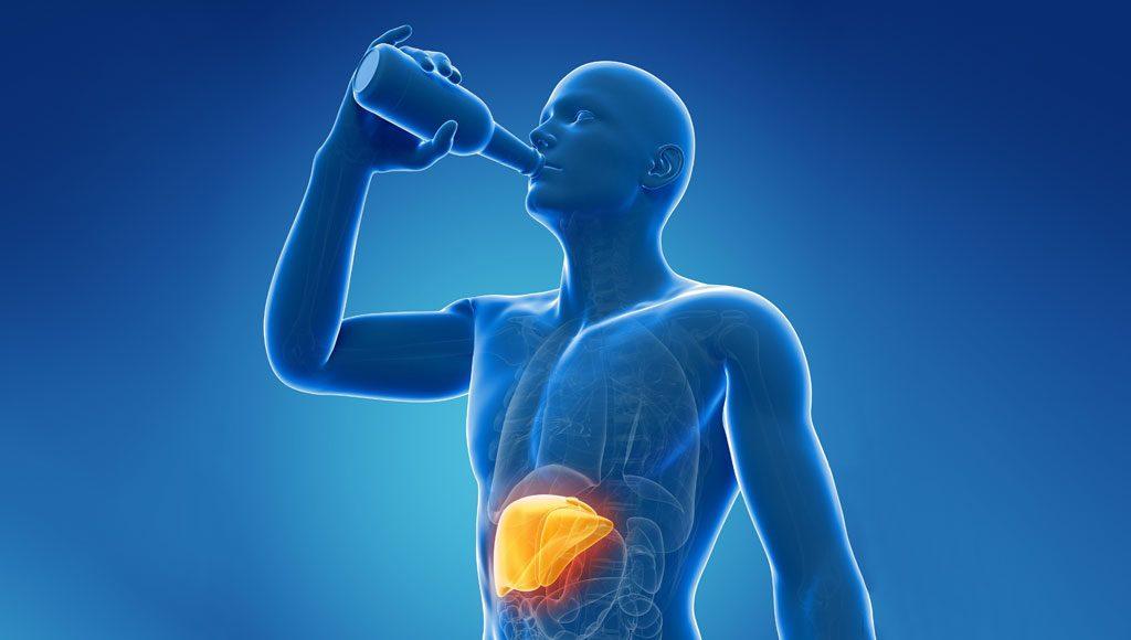 الخمر على جهاز الهضم