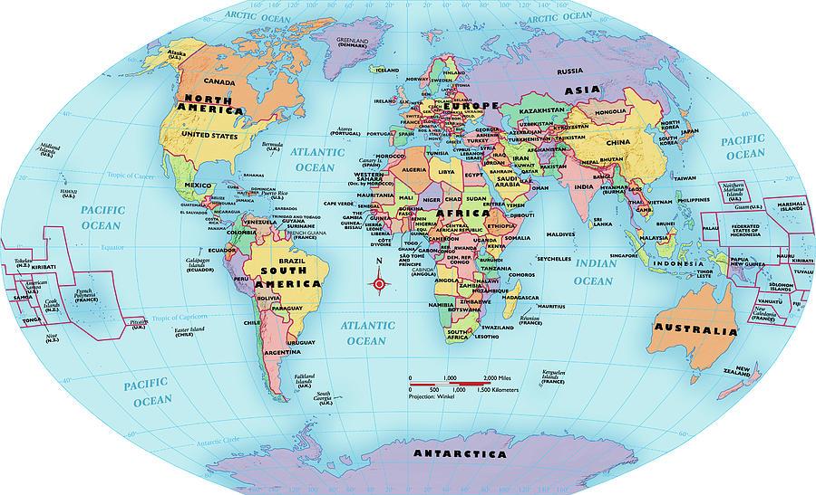 مقاسات قارات العالم