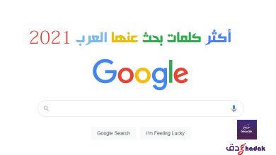 أكثر كلمات بحث عنها العرب 2021