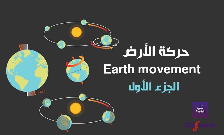 حركة الأرض Earth movement الجزء الأول