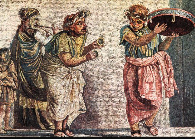الكورس والممثلون في المسرح اليوناني