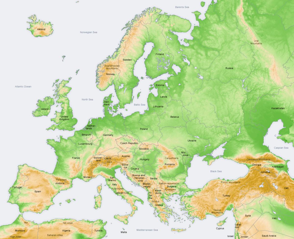 أكبر الجبال في اوروبا