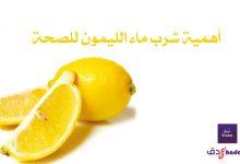 أهمية شرب ماء الليمون للصحة